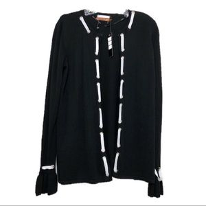 Belldini | Black Long Sleeve Open Front Sweater